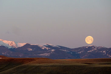 Full Moon on Montana